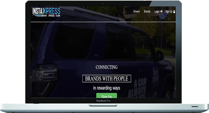 instaxpress car advertisement